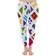 A Colorful Modern Illustration For Lovers Classic Winter Leggings