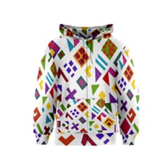 A Colorful Modern Illustration For Lovers Kids  Zipper Hoodie