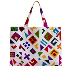 A Colorful Modern Illustration For Lovers Zipper Mini Tote Bag