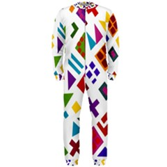 A Colorful Modern Illustration For Lovers Onepiece Jumpsuit (men)
