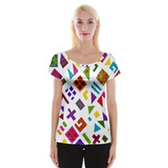 A Colorful Modern Illustration For Lovers Women s Cap Sleeve Top