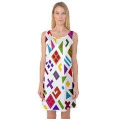A Colorful Modern Illustration For Lovers Sleeveless Satin Nightdress