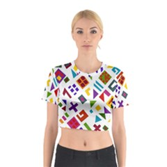A Colorful Modern Illustration For Lovers Cotton Crop Top