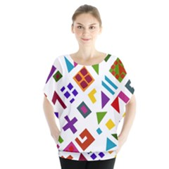 A Colorful Modern Illustration For Lovers Blouse