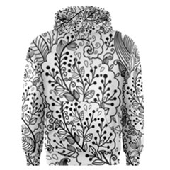 Black Abstract Floral Background Men s Pullover Hoodie