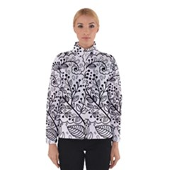 Black Abstract Floral Background Winterwear