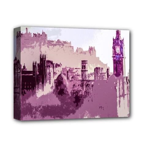 Abstract Painting Edinburgh Capital Of Scotland Deluxe Canvas 14  x 11