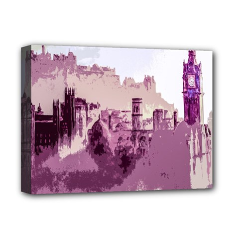 Abstract Painting Edinburgh Capital Of Scotland Deluxe Canvas 16  x 12