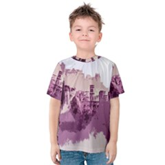Abstract Painting Edinburgh Capital Of Scotland Kids  Cotton Tee