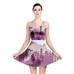 Abstract Painting Edinburgh Capital Of Scotland Reversible Skater Dress