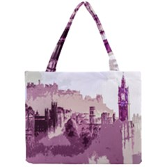 Abstract Painting Edinburgh Capital Of Scotland Mini Tote Bag
