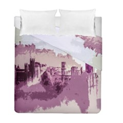 Abstract Painting Edinburgh Capital Of Scotland Duvet Cover Double Side (full/ Double Size)