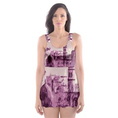 Abstract Painting Edinburgh Capital Of Scotland Skater Dress Swimsuit