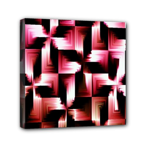 Red And Pink Abstract Background Mini Canvas 6  X 6