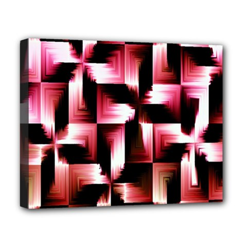 Red And Pink Abstract Background Deluxe Canvas 20  X 16