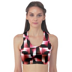 Red And Pink Abstract Background Sports Bra