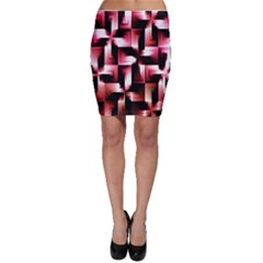 Red And Pink Abstract Background Bodycon Skirt