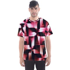 Red And Pink Abstract Background Men s Sport Mesh Tee