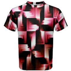 Red And Pink Abstract Background Men s Cotton Tee