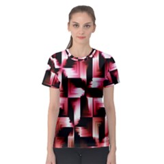 Red And Pink Abstract Background Women s Sport Mesh Tee