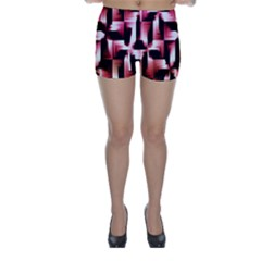 Red And Pink Abstract Background Skinny Shorts
