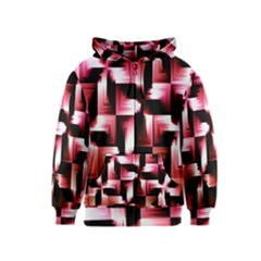 Red And Pink Abstract Background Kids  Zipper Hoodie