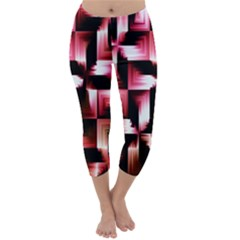 Red And Pink Abstract Background Capri Winter Leggings