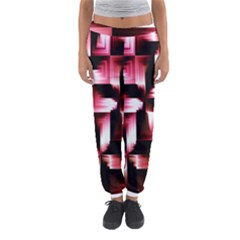 Red And Pink Abstract Background Women s Jogger Sweatpants