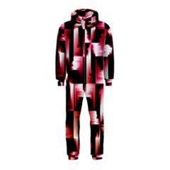 Red And Pink Abstract Background Hooded Jumpsuit (kids)