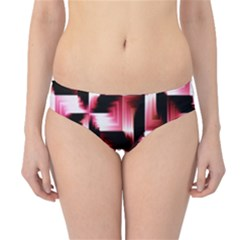 Red And Pink Abstract Background Hipster Bikini Bottoms