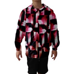 Red And Pink Abstract Background Hooded Wind Breaker (kids)