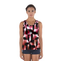 Red And Pink Abstract Background Women s Sport Tank Top