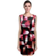 Red And Pink Abstract Background Classic Sleeveless Midi Dress