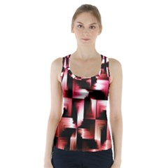 Red And Pink Abstract Background Racer Back Sports Top