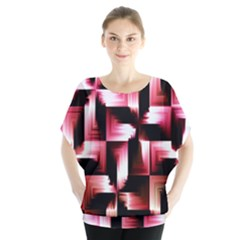 Red And Pink Abstract Background Blouse