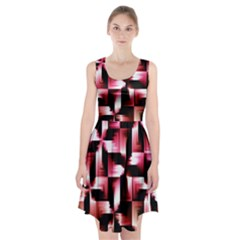 Red And Pink Abstract Background Racerback Midi Dress