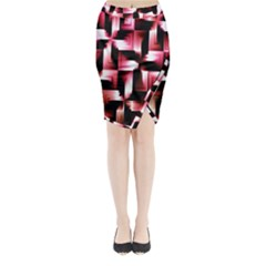 Red And Pink Abstract Background Midi Wrap Pencil Skirt