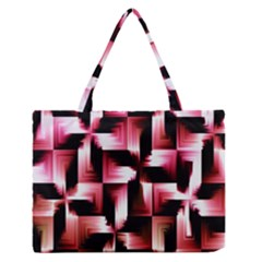 Red And Pink Abstract Background Medium Zipper Tote Bag