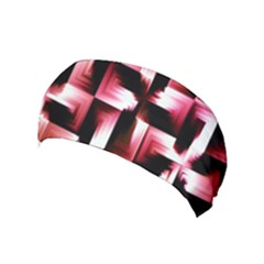 Red And Pink Abstract Background Yoga Headband