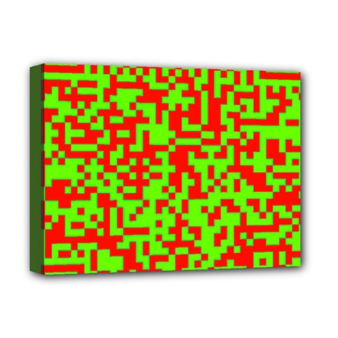 Colorful Qr Code Digital Computer Graphic Deluxe Canvas 16  x 12