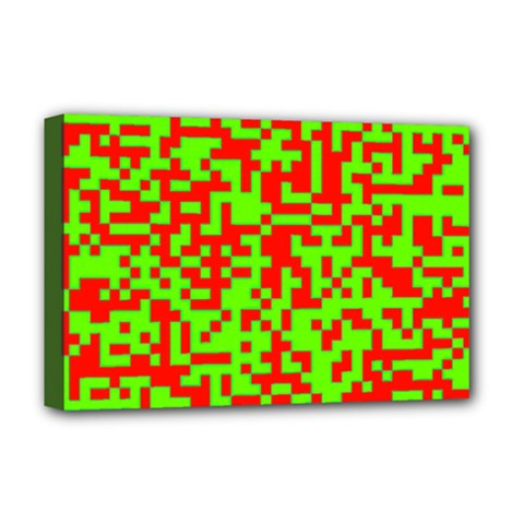 Colorful Qr Code Digital Computer Graphic Deluxe Canvas 18  X 12