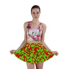 Colorful Qr Code Digital Computer Graphic Mini Skirt
