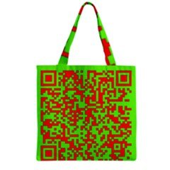 Colorful Qr Code Digital Computer Graphic Grocery Tote Bag