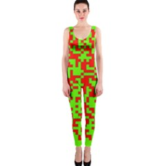 Colorful Qr Code Digital Computer Graphic OnePiece Catsuit