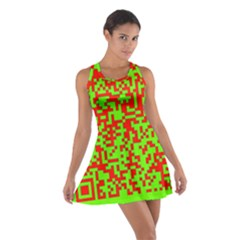 Colorful Qr Code Digital Computer Graphic Cotton Racerback Dress