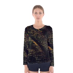 Abstract Background Women s Long Sleeve Tee