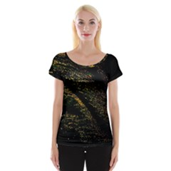Abstract Background Women s Cap Sleeve Top