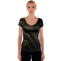 Abstract Background Women s V-Neck Cap Sleeve Top