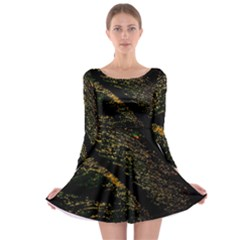 Abstract Background Long Sleeve Skater Dress