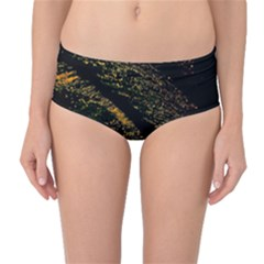 Abstract Background Mid-Waist Bikini Bottoms